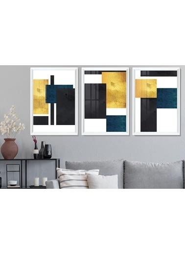Çerçeve Home  Square Shapes Beyaz Çerçeve Tablo Seti Beyaz